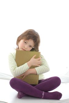 Free A Young Girl Take A Book Royalty Free Stock Photos - 5094768