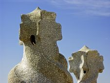Free Gaudi Chimneys, Barcelona, Spain Stock Images - 5095944
