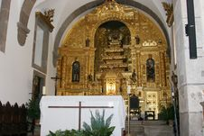Free Portuguese Church Main Altar Royalty Free Stock Photos - 5095978