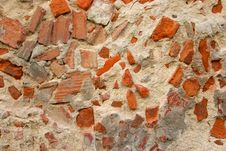 Free Decaying Wall Made Of Concrete And Brick Stock Photo - 5096210