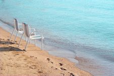 Free Two Beach Chairs Royalty Free Stock Image - 5096366