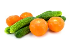 Free Tomatoes And Cucumbers Stock Photography - 5096382