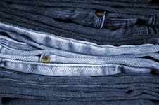 Free Folded Blue Jeans Royalty Free Stock Photos - 5096878