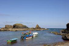 Traditional Small Fishing Boats Stock Photos