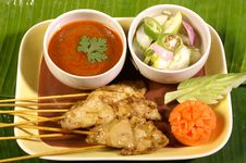 Sate Grill Royalty Free Stock Photo