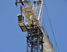 Industrial Consruction Crane Royalty Free Stock Image