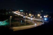 Free Road Of Night City Stock Image - 5098251