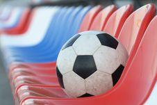 Free Ball On Tribunes Royalty Free Stock Photos - 5098288