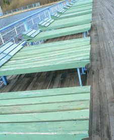 Free Plank Beds On A Beach Royalty Free Stock Photos - 5098438
