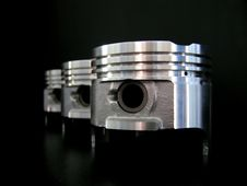Free Pistons Isolated On Black Royalty Free Stock Photo - 5098935