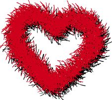 Free Red Hairy Heart Stock Photos - 5099493