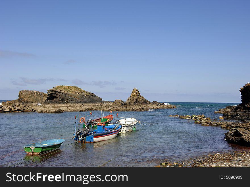 Traditional small fishing boats