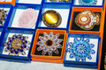 Free Brooches Made Of Glass And Amber At The Exhibition Stock Photos - 50908023