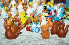 Free Some Clay Toys On The Counter Royalty Free Stock Photos - 50908018