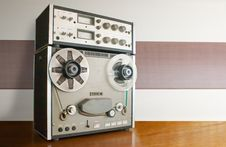 Professional Reel Tape Recorder Stock Photos