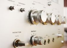 Free Control Panel Cassete Recorder Closeup Stock Image - 50909531