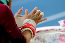 Free Hands Of Gymnasts Royalty Free Stock Photo - 50946685