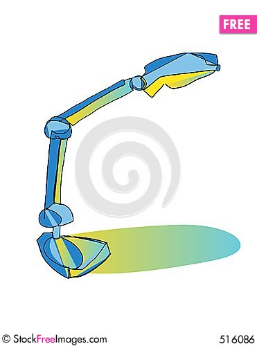 Free Desk Lamp Illuminated Royalty Free Stock Image - 516086