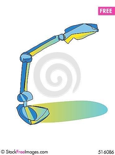 Free Desk Lamp Illuminated Royalty Free Stock Image - 516086