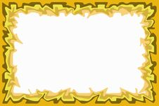 Free Yellow Brown Border Royalty Free Stock Photography - 510577