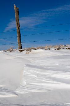Free Snow Fencepost Stock Image - 512301