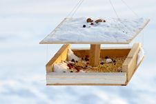 Free Feeding Trough For Birds Stock Image - 513741