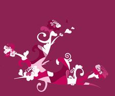 Free Deep Red Floral Illustration Stock Photography - 515282