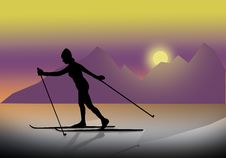 Free Skier1 Royalty Free Stock Images - 517209