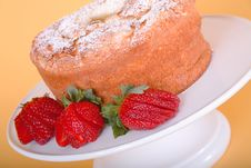 Free Strawberries And Angle Food Cake Stock Photo - 518730