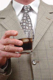 Free Businessman With Drink Stock Image - 519911