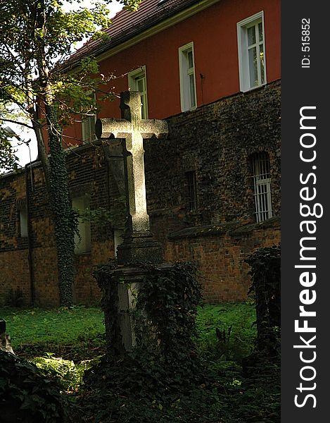 Cemetery cross - grave