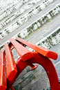 Free Red Seat And White Stairs Royalty Free Stock Image - 5100736