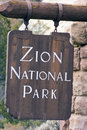 Free Zion National Park Sign Stock Photos - 5106883
