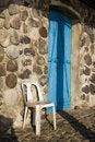Free Blue Door, Stone House Royalty Free Stock Photos - 5107998