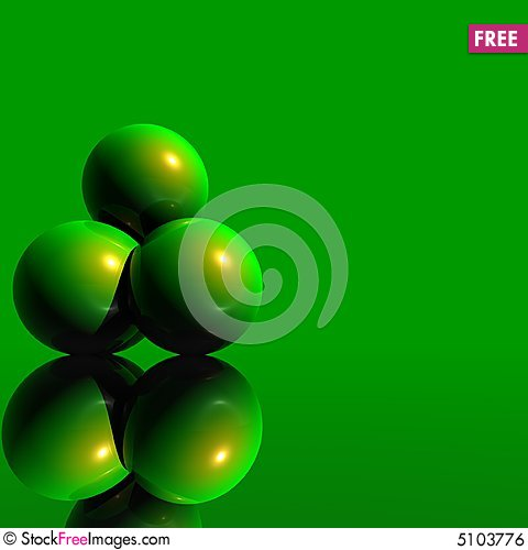 Free 3D Logo Objects Green Balls Royalty Free Stock Image - 5103776