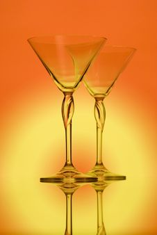 Free Glasses For Martini Royalty Free Stock Images - 5100139
