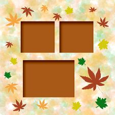 Free Autumn Leaf Frame Royalty Free Stock Photo - 5100455