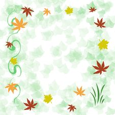 Free Autumn Leaf Frame Royalty Free Stock Photos - 5100468