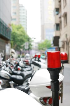 Police Motorcycle Light Royalty Free Stock Photos