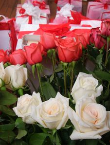 Free Roses And Gifts Royalty Free Stock Photos - 5100888