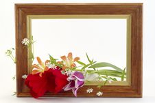 Free Framework With The Flowers Stock Photography - 5101872