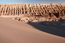 Free Sandy Dunes In San Pedro De Atacama Stock Photography - 5102352