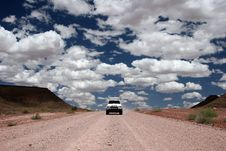 Free Driving Through The Desert Stock Images - 5103054