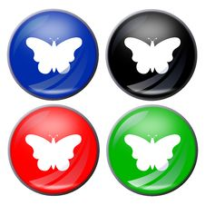Free Butterfly Button Stock Photo - 5103190
