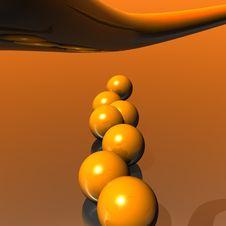 Free 3D Logo Objects Orange Balls Stock Photography - 5103802