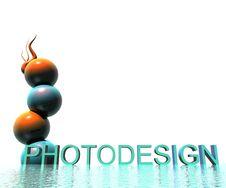 3D Logo Photodesign Royalty Free Stock Photo