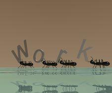 3D Logo Work Royalty Free Stock Image