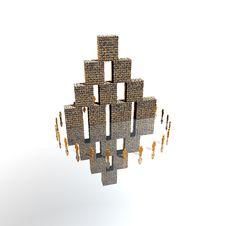 3D Logo Presentation Royalty Free Stock Photo