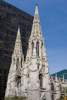 St. Patrick Cathedral Stock Photo