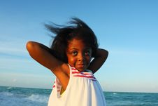 Free Child Posing On The Beach Royalty Free Stock Photography - 5106327